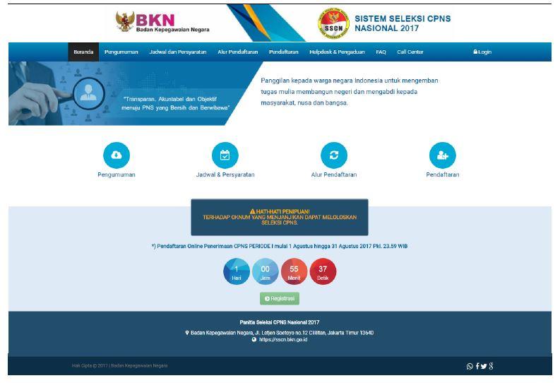 Tata Cara Pendaftaran Online CPNS 2017