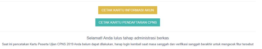 Hasil Seleksi Administrasi CPNS 2019